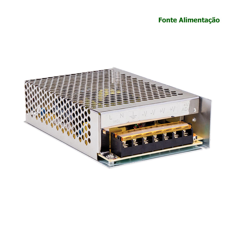 Fonte Alimentação Intelbras AC/DC 12,8V 10A EFM 1210