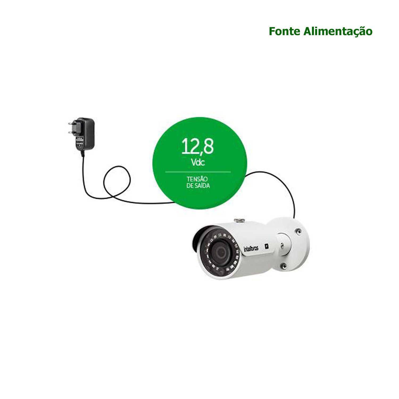 Fonte Alimentação Intelbras Conversor AC/DC 12V 1A CFTV Câmera EF 1201 Bivolt