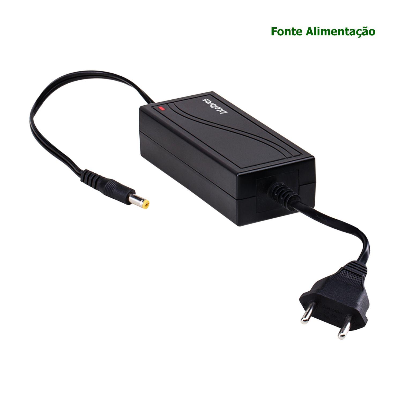 Fonte Alimentação Intelbras Conversor AC/DC 12V 5A CFTV Câmera EF 1205 Bivolt