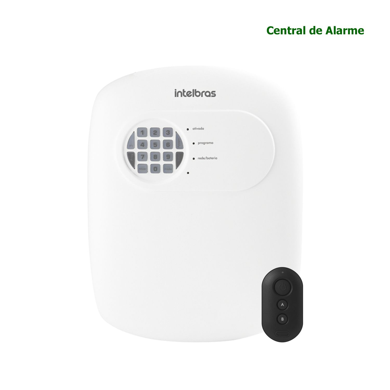 Kit Alarme Intelbras com 1 Presença + 2 Abertura Com APP Smartphone