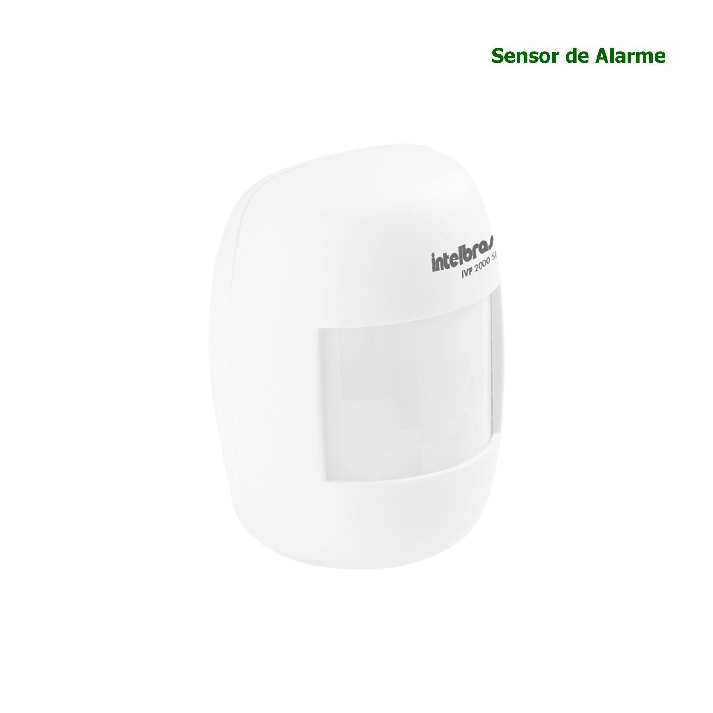 Sensor de Alarme Infravermelho Sem Fio Intelbras IVP 2000 SF