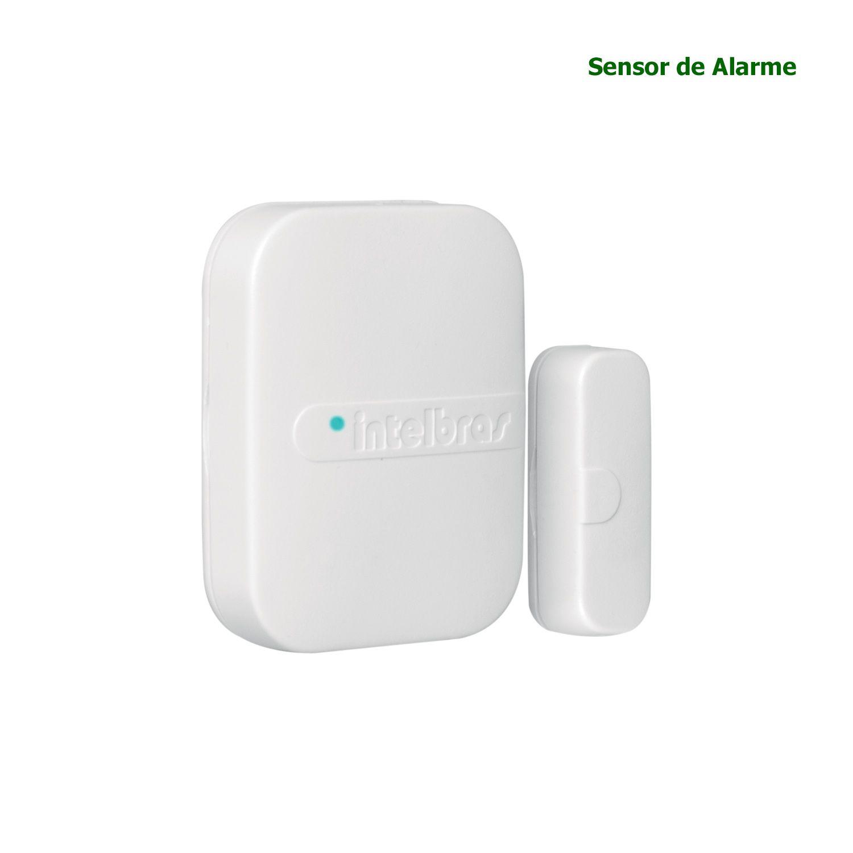 Sensor Magnético Abertura Intelbras Sem Fio para Portas e Janelas XAS 4010 SMART BRANCO