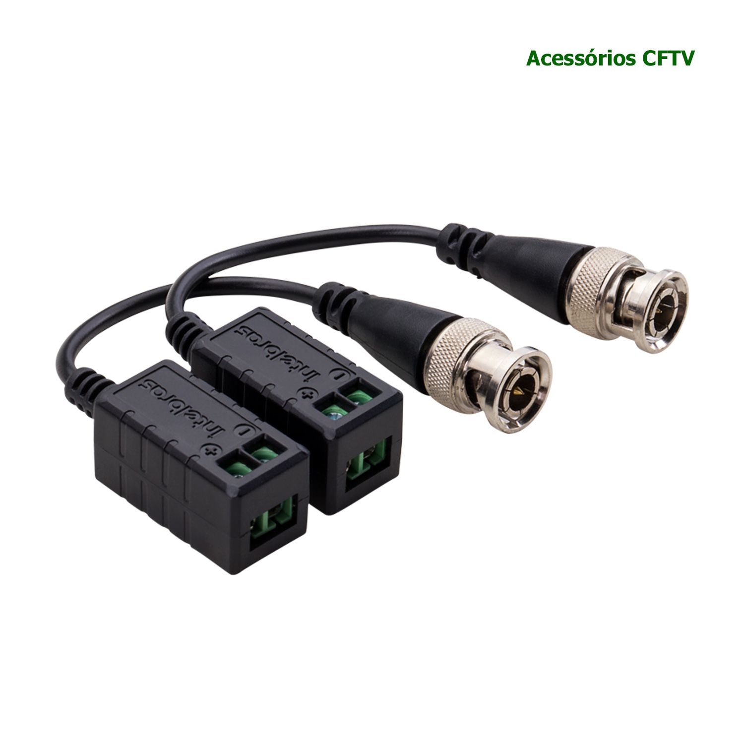 Video Balun Intelbras Conversor Passivo Híbrido Full HD 4K XBP 400 HD Par