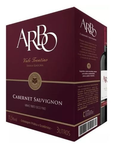 Casa Perini Bag In Box Arbo Cabernet Sauvignon 3000 ml