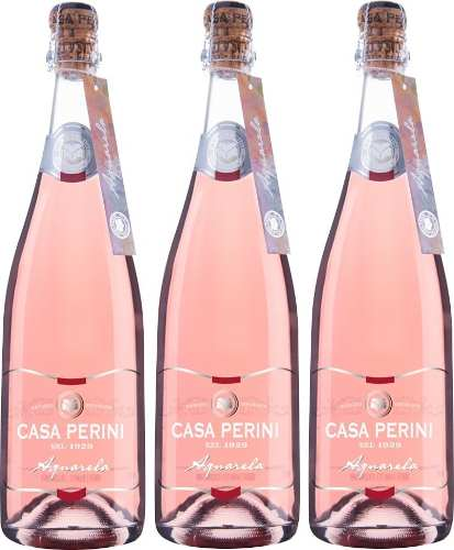 Box 03 Un Casa Perini Moscatel Aquarela Rose 750 ml