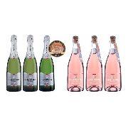 Box 3 Gf Moscatel + 3 Gf Moscatel Rosé + Tampa Espumantes