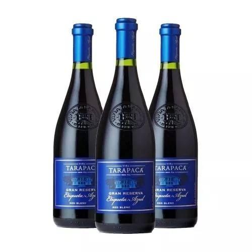 Box 03 Un Tarapaca Gran Reserva Etiqueta Azul 750 ml