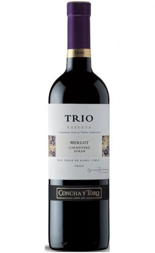 Trio Reserva Merlot/carmenere/syrah 750 ml