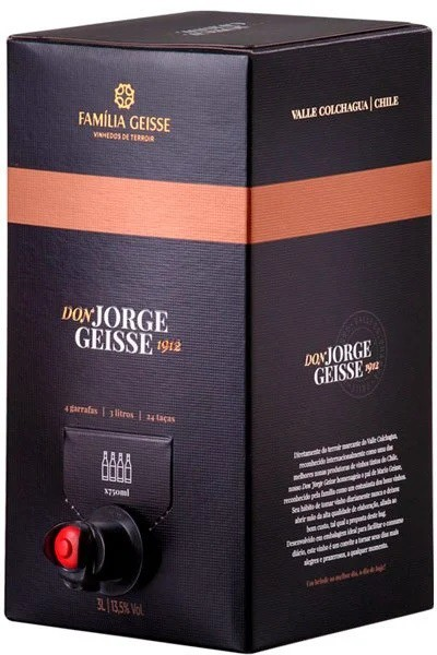 CAVE GEISSE DON JORGE CABERNET CARMENERE BAG IN BOX 3 LITROS