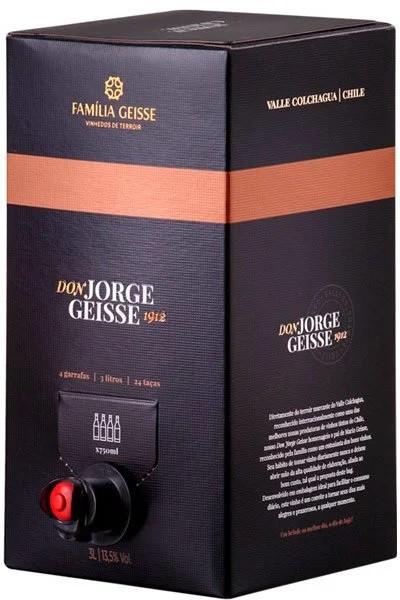 CAVE GEISSE DON JORGE CABERNET CARMENERE BAG IN BOX 3 LITROS