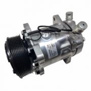 Compressor de ar condicionado 7H15 polia 8PK 12V - 8 ORELHAS