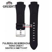 Pulseira de Borracha Preto para Relógio Orient Seatech Mbttc007
