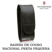 Bainha Victorinox Couro Preta Pequena Nacional 4.052.03A