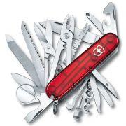 Canivete Suíço Victorinox Swisschamp Vermelho Translúcido 33 Funções - 1.6795.T