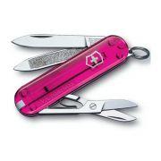 Canivete Victorinox Classic Rosa Transparente 58mm 7 Funções - 0.6203.T5