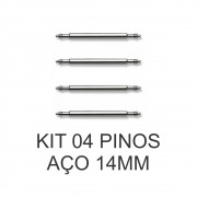 Kit c/ 4 Pinos de Aço para Pulseira de Relógio 14 MM
