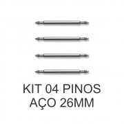 Kit c/ 4 Pinos de Aço para Pulseira de Relógio 26 MM