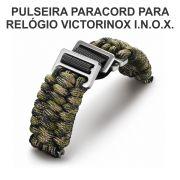 Kit Pulseira Paracord Verde + Canivete Victorinox V.60023