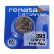 Pilha Bateria 395 SR927SW Renata Swiss Made 1,55V Botão
