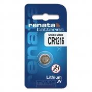 Pilha Bateria CR1216 Lithium Renata Swiss Made 3V Botão