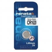 Pilha Bateria CR1620 Lithium Renata Swiss Made 3V Botão