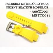 Pulseira de Borracha Amarelo para Relógio Orient Seatech 469TI003 / MBTTC014