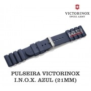 Pulseira de Borracha Azul Victorinox I.N.O.X. 21mm 005108