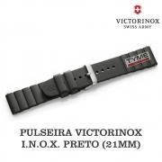 Pulseira de Borracha Preto Victorinox I.N.O.X. 21mm 005104