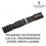 Pulseira de Borracha Preto Victorinox I.N.O.X. Professional Diver 22mm 005327