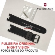 Pulseira de Borracha Victorinox Night Vision Preto 21mm 004760