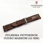Pulseira de Couro Marrom Victorinox 22mm 004446