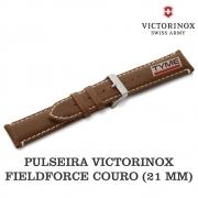 Pulseira de Couro Marrom Victorinox Fieldforce 21mm 005945