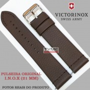Pulseira de Couro Marrom Victorinox I.N.O.X. 21mm 005311