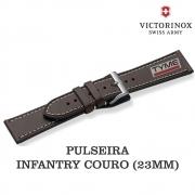 Pulseira de Couro Marrom Victorinox Infantry 23mm 004698