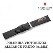 Pulseira de Couro Preto Victorinox Alliance 21mm 005368