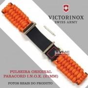 Pulseira Paracord Laranja Victorinox I.N.O.X. 21mm 005656