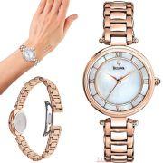 Relógio Bulova Feminino Classic Rosê WB27725Z / 97L124