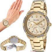 Relógio Bulova Feminino Diamond WB27734X / 98R171