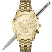 Relógio Bulova Feminino Dourado WB22346G