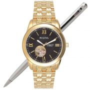 Relógio Bulova Masculino Automático 21 Jewels Dourado WB32004U