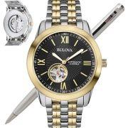 Relógio Bulova Masculino Automático 21 JEWELS WB32004P 98A168