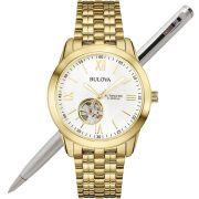 Relógio Bulova Masculino Automático Dourado WB32004H
