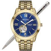 Relógio Bulova Masculino Automático Dourado WB32004Z
