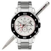 Relógio Bulova Masculino Cronógrafo Marine Star WB30962T *98B119