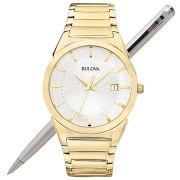 Relógio Bulova Masculino Dourado Slim Wb21605h / 97b108