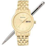 Relógio Bulova Masculino Dourado WB21105G / 97C47