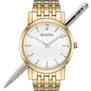 Relógio Bulova Masculino Slim Dourado WB21669H / 97A102