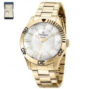 Relógio Champion Elegance Dourado Feminino + semi jóia CN27214W