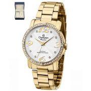 Relógio Champion Passion Dourado Feminino + Semi Jóia CH24213D