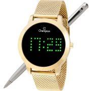 Relógio Champion LED Digital Unissex CH40017G Dourado - LED Verde